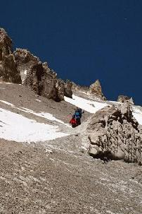 On traverse up to Camp 3 (6100m)