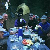 Breakfast in the Mweka camp