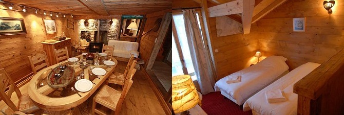 Your luxury chalet in Chamonix for a night at each end of the trek