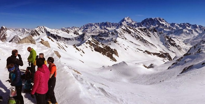 On the summit of Mont Fourchon, looking back to the Grand Saint Bernard monastery