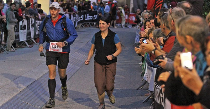 UTMB running to the finish line
