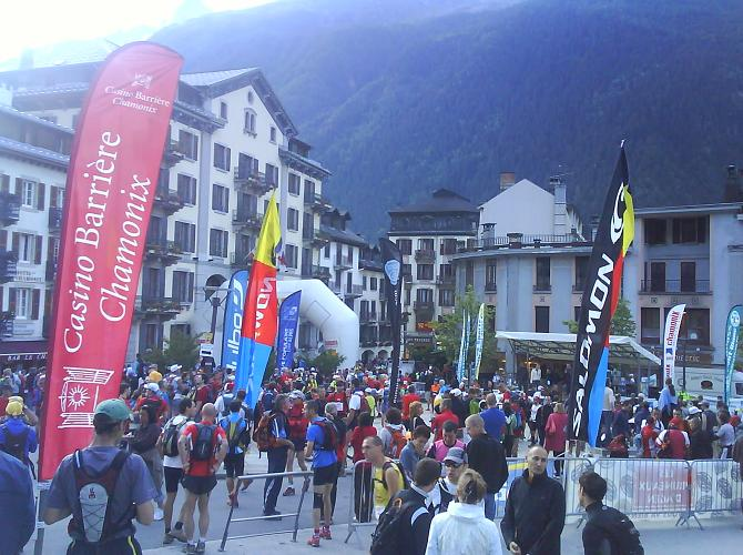 Waiting for starters orders in Chamonix centre
