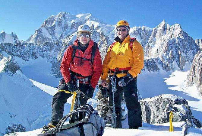 Gary and Kevin on the summit of Aiguille du Toule 3534m