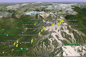 Explore the Icicle Mont Blanc course on Google Earth