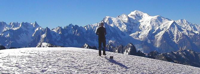 On the summut of Mont Buet looking towards Mont Blanc