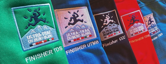 UTMB and CCC finisher tops, Ultra Trail du Mont Blanc